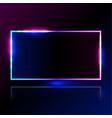 rectangle light blue pink frame for promotion vector image vector image