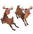 Rudolph The Reindeer Jumping vector image