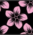 seamless pattern of cordia sebestena flower flat vector image vector image
