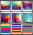 set of colored banners in modern style vector image vector image