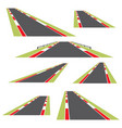 set roads isolated on white background vector image