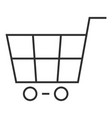 shop cart icon outline style vector image