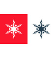 snowflakes icon set isolated on red and white vector image vector image