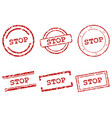 stop stamps vector image