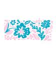 summer scandinavian ornament floral vector image vector image