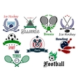 Team and individual sports heraldic emblems vector image vector image