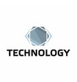 technology logo on white background vector image