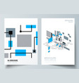 the layout of a4 format modern cover vector image vector image