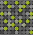 tile pattern with green grey and black polka dots vector image vector image