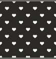tile pattern with white hearts on black background vector image vector image