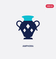 two color amphora icon from greece concept vector image