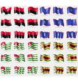 UPA Guam Abkhazia Zimbabwe Set of 36 flags of the vector image vector image