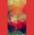 vertical flat triangle background of geometric vector image vector image
