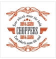 Vintage Motorcycle label Retro chopper bike vector image vector image