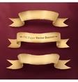 Vintage paper ribbon banner vector image