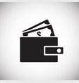 wallet with money on white background vector image