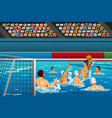 water polo competition vector image vector image