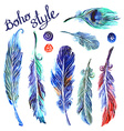 watercolor feathers vector image vector image