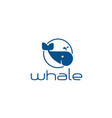 whale-logo vector image