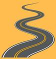 winding road highway path long street vector image vector image