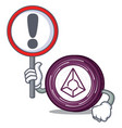 with sign augur coin character cartoon vector image vector image