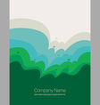 An abstract natural landscape vector image
