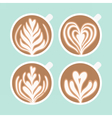 Cappuccino foam drawing Coffee art vector image