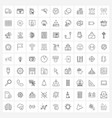 81 universal line icons for web and mobile arrow vector image vector image
