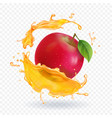 apple fresh juice realistic vector image