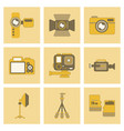 assembly flat icon technology camcorder photo vector image vector image