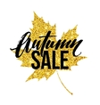 Autumn hand written lettering Golden black and