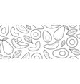 avocado sketch drawn on a white background vector image vector image