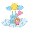 babirthday party elements vector image vector image