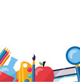 back to school flat design vector image vector image