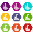 balcony door icons set 9 vector image vector image