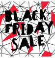 Big Sale Black Friday Sale Poster Low poly vector image
