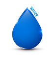 Blue Water Drop Icon Isolated on White vector image