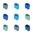 breeches icons set isometric style vector image vector image