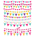 bunting decoration set vector image vector image