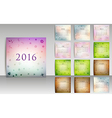 Calendar set for 2016 in blurred smooth design vector image vector image