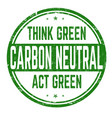 carbon neutral sign or stamp vector image