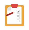 checklist document board vector image