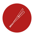 chopsticks element isolated icon vector image vector image