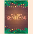 christmas poster merry christmas and happy new vector image
