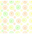 citrus lemon lime seamless pattern on white vector image