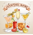 Contemporary Classics Cocktails Menu vector image vector image