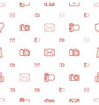 contour icons pattern seamless white background vector image vector image