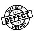 defect round grunge black stamp vector image vector image
