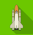delivery of the space shuttlespace technology vector image vector image