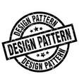 design pattern round grunge black stamp vector image vector image